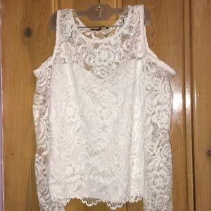 Fashion nova cold shoulder lace sweetheart shirt